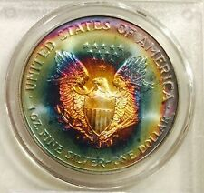 1997 American Silver Eagle PCGS MS67 Super Gem/Colorful Tone - RAINBOW
