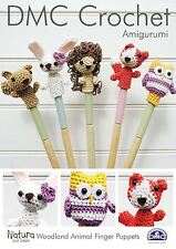 DMC Amigurumi: Woodland Animal Finger Puppets Crochet Pattern