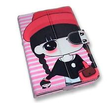 Doll Pattern Motif PU Flip Travel Carry Case Book Cover for Google Nexus 7 UK