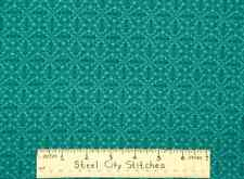 Amazon Tonal Blender Geometric Cultural Abstract  Teal  Cotton Fabric 1.6  YARDS