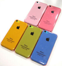 Pink Transparent Air Jacket Ultra Slim Hard Faceplate Case Cover ~ iPhone 5C