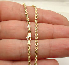 "10""  2.50mm Twisted Rope Chain Ankle Bracelet Anklet Real 10K Yellow Gold"