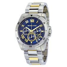 Michael Kors Brecken Chronograph Blue Dial Two-tone Mens Watch MK8437