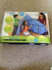 NEW Discovery Kids 77 Pc. Build & Play Construction Fort.