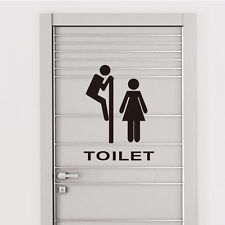 Funny Toilet Door Sign Decals Vinyl Removable Bathroom Decoration Wall Sticker