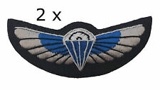 2 x 22 SAS Special Air Service Padded Parachute Wings Army Military Badge Patch