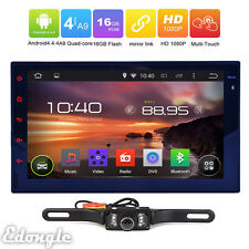Double 2 DIN 7'' Android 4.4 Auto Car Stereo Radio Bluetooth Player w/WIFI GPS