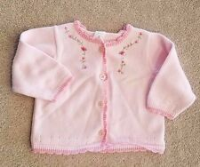 ADORABLE! CARTER'S 3 MONTH PINK ROSES KNIT SWEATER REBORN
