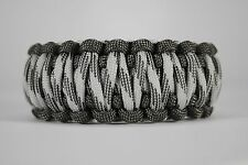 550 Paracord Survival Bracelet King Cobra Gray/Grayscale Camping Tactical