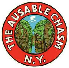 The Ausable Chasm   NY    NEW YORK   Vintage-1950's Style   Travel Sticker/Decal