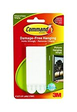 Command Large Picture Hanging Strips 17206 (Each Pack contains 4 Sets) 1