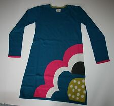 New Mini Boden Sweater Dress size 9 10 Year Soft Knit Cotton Cashmere Flower