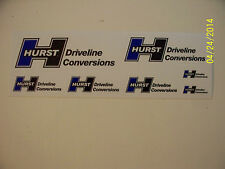 "ORIGINAL RACING DECALS "" Hurst  Driveline  Conversioms  7   Decal  Sheet """