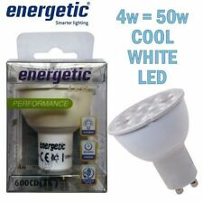 Energetic Lighting LED 4w GU10  = 50w Cool White SMD Light Bulb Lamp 4000K 2 pin