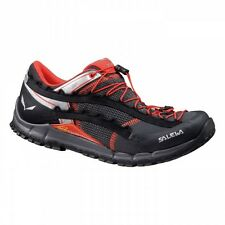 16' New Salewa Speed Acent Running Mountain Hiking Shoe Men 9 Carbon / Flame