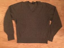 NORDSTROM CLAN DOUGLAS sweater men's size Extra Large 100% cashmere gray