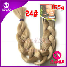 Blonde #24 Kanekalon Jumbo Braiding Synthetic Hair Extension Twist Braids 165g
