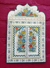 Magnifiquement peinte à la main miroir avec portes du maroc * blanc *