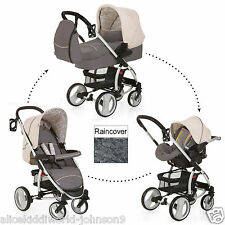 NEW Hauck Malibu XL All in One Travel System Pushchair Pram+Raincover in ROCK