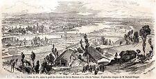 VALENZA: Valle del Po e Ponte Ferrovia per Mortara.Alessandria.Risorgimento.1859