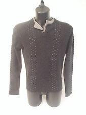 Maglione Roberto Cavalli,seta cotone cacherime ,colore grigio, tg 48 e 46