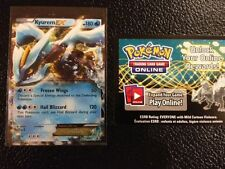POKEMON Ultra rare HOLO  KYUREM  EX (BW37) WITH BONUS  online code card* MINT/NM
