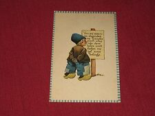 Vintage Ven my money iss shpended my friendts crawl away Postcard #S126 NOS EXC