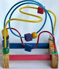 Vintage Wooden Bead  Maze Roller Coaster Toy