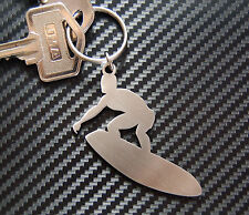 SURFER DUDE Surfboard Surf Wave Carve Keyring Keychain Key Stainless Steel