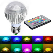 E27 15W RGB LED Light Color Changing Lamp Bulb Home Party Decoration + IR Remote