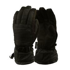 Ladies Winter Premium Waterproof Thinsulate 3M Warm Snow Ski Gloves Black M
