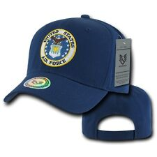 Navy Blue United States US Air Force USAF Military Logo Cotton Cap Hat Caps Hats