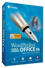 Corel WordPerfect Office X6 Home & Student BRAND NEW  SEALED 3PCs