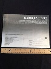 Yamaha P-320 Turntable Original Owners Manual 10 Pages p320 A16