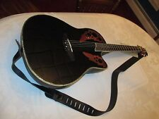 OVATION CELEBRITY CC44 ACOUSTIC ELECTRIC GUITAR GLOSS BLACK w/ ELECTRONIC TUNING