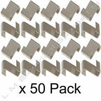 Z Shape Strong Fixing Greenhouse Glass Pane 10mm Glazing Lap Clips 50 x Pack