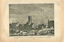Combat rue de la Chapelle 1791 Paris Révolution GRAVURE ANTIQUE OLD PRINT 1873