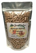 Apricot Kernel Capsules 180 X 500mg Raw & Bitter