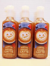 Bath Body Works PUMPKIN CARAMEL LATTE Anti-Bac Deep Cleansing Hand Soap NEW x3