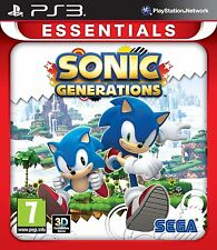 Sonic Generations - Sony PS3 Essentials - New & Sealed - FREE P&P
