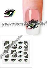 NAIL ART WATER TRANSFER STICKERS DECALS WRAPS EYE Style (E19)