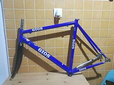 "vintage Gios alloy road frame 1"" Carbon fork c-c 53 cm 27.2mm"