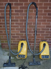 Rare yellow 2 x MIELE S250i 1400W vacuum cleaners complete- Cost £350