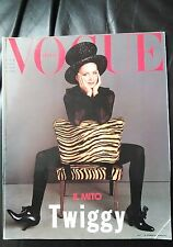 *** VOGUE ITALIA  MAGAZINE April 1993 Twiggy cover