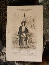 Ancien canivet papier Bienheureuse Jeanne D'Arc  , Editeur Trugis