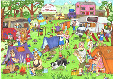 La casa del Puzzle-Puzzle 1000 pezzi-HAPPY CAMPER CARTOON