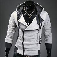 New Mens Zip Hoodie Top Sweatshirt Zipper Hooded Top Jacket Coat Size S M L XL