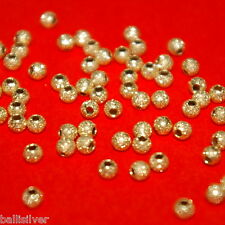 1000 pieces 3mm 14kt Gold Filled STARDUST Round Spacer BEADS Lot by BalliSilver