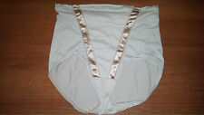 LIGHT GREY SILKY SHINY PANTIES-PANTY-FULL BRIEFS-XL-FLEXEES-CROSSDRESSERS-NYLON
