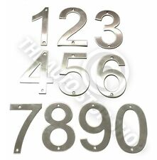 Stainless Steel House Numbers - No 46 - SCREW on House / Door / Building 10cm